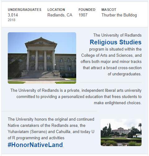 University of Redlands History