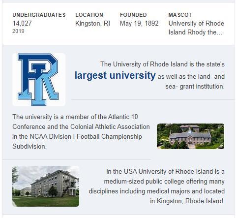 University of Rhode Island History