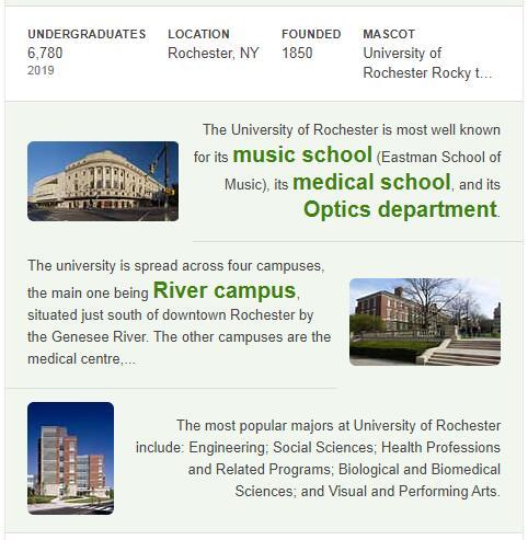 University of Rochester History