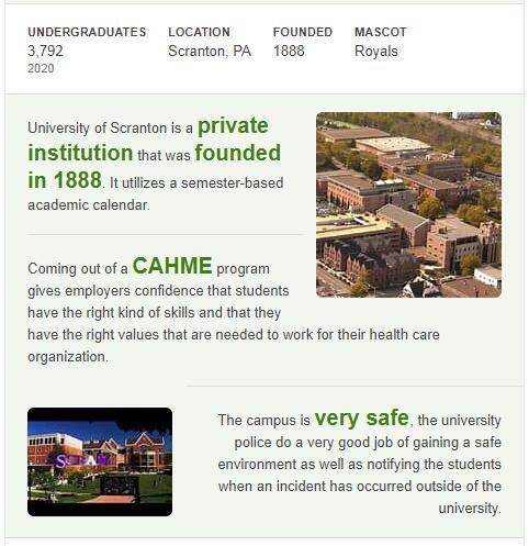 University of Scranton History