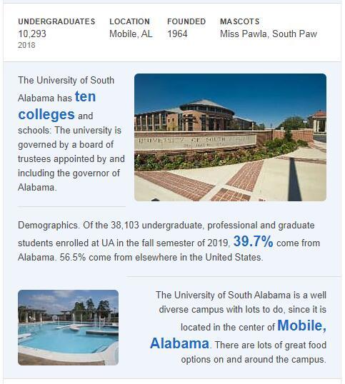 University of South Alabama History