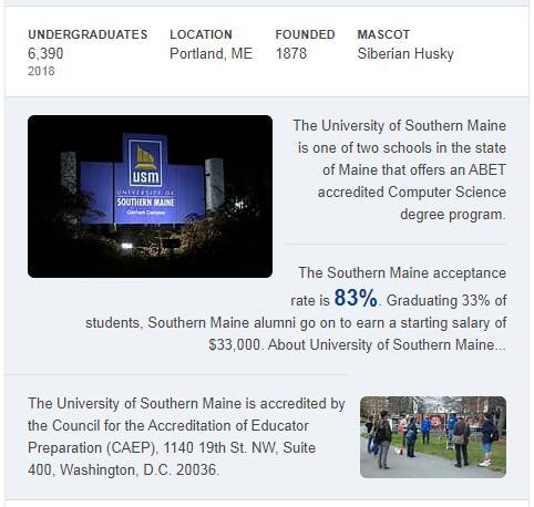 University of Southern Maine History