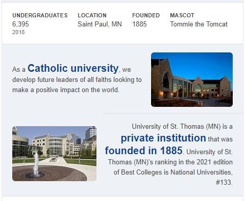 University of St. Thomas History