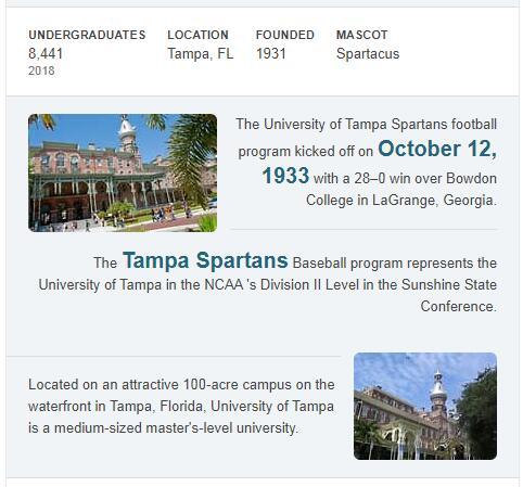 University of Tampa History