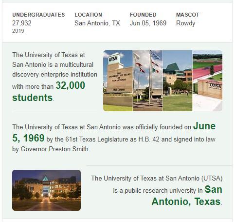 University of Texas-San Antonio History
