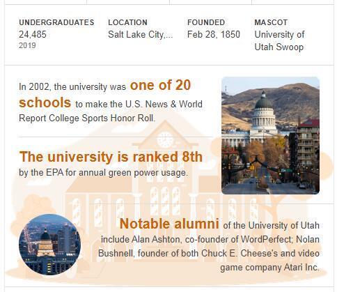 University of Utah History