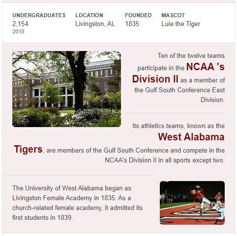 University of West Alabama History
