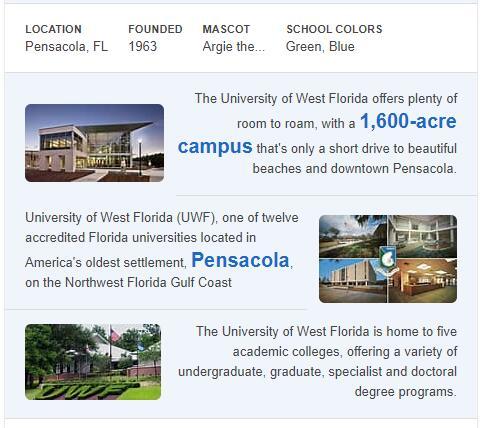 University of West Florida History