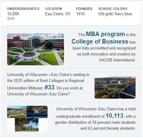 University of Wisconsin-Eau Claire History