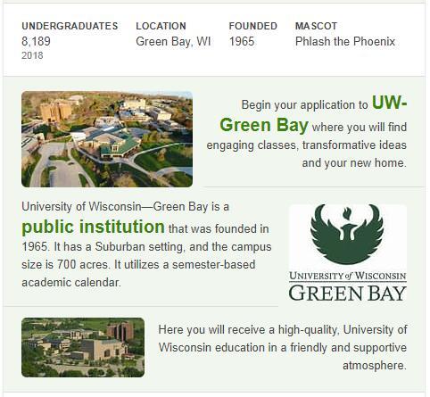 University of Wisconsin-Green Bay History