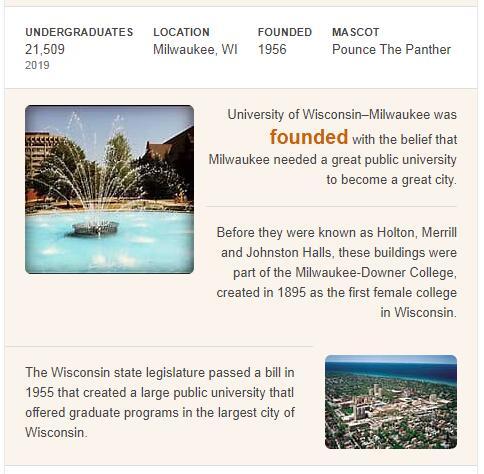 University of Wisconsin-Milwaukee History
