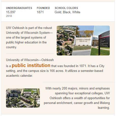 University of Wisconsin-Oshkosh History