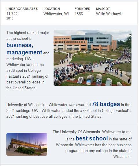University of Wisconsin-Whitewater History