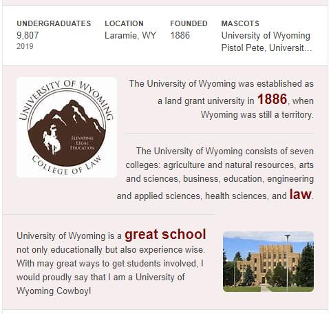 University of Wyoming History