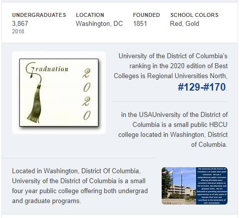 University of the District of Columbia History