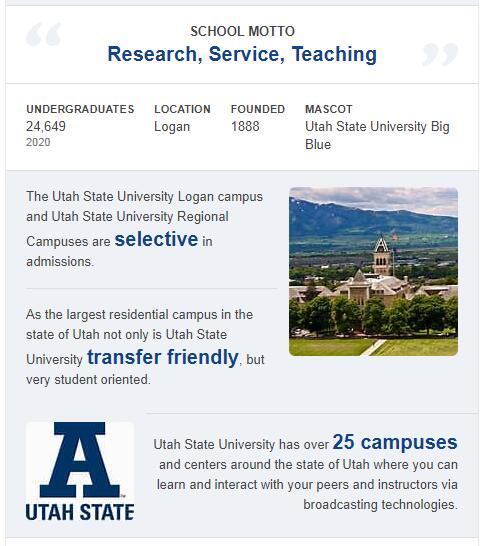 Utah State University History
