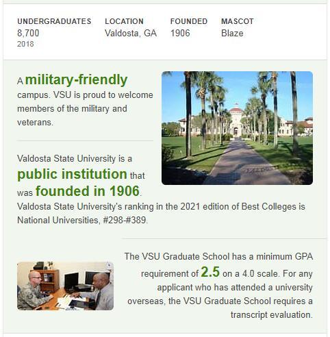 Valdosta State University History