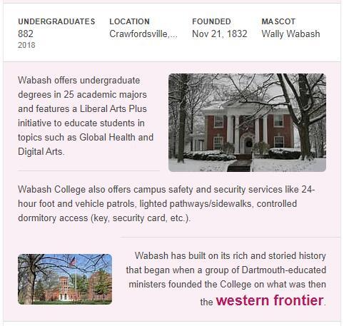 Wabash College History