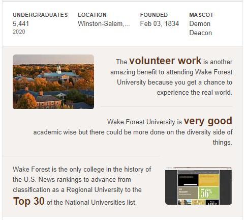 Wake Forest University History