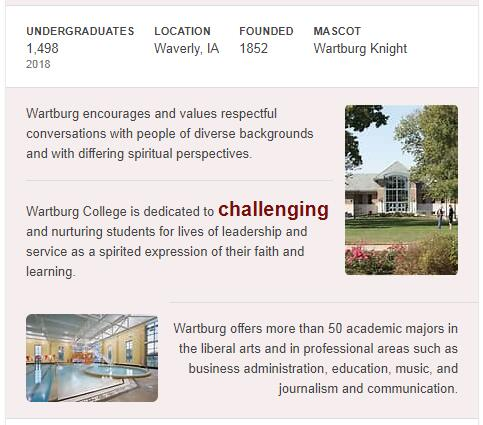 Wartburg College History