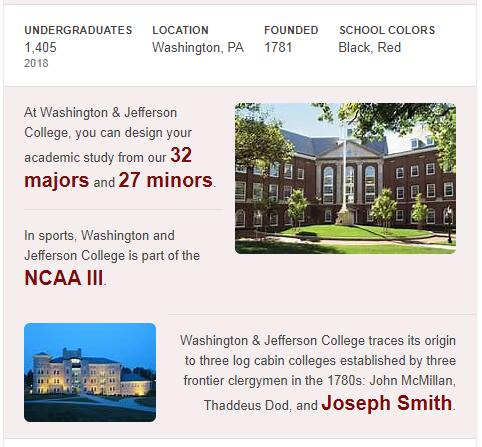 Washington and Jefferson College History