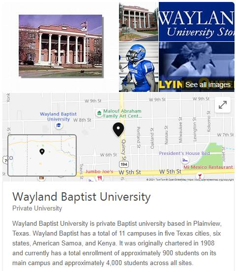 Wayland Baptist University History