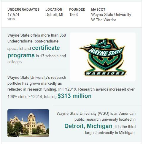 Wayne State University History