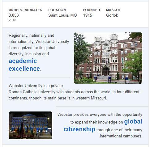 Webster University History