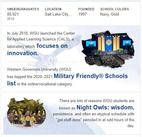 Western Governors University History