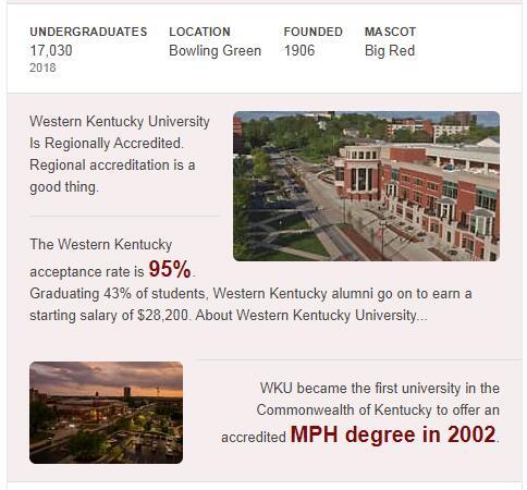Western Kentucky University History