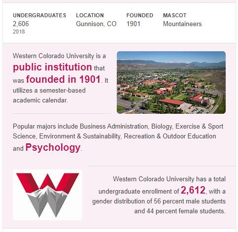 Western State College of Colorado History