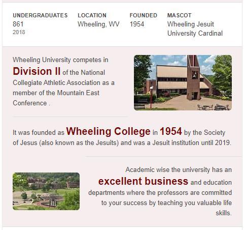 Wheeling Jesuit University History