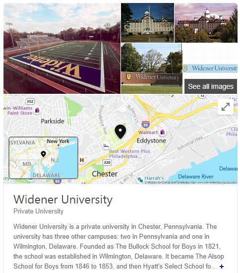 Widener University History