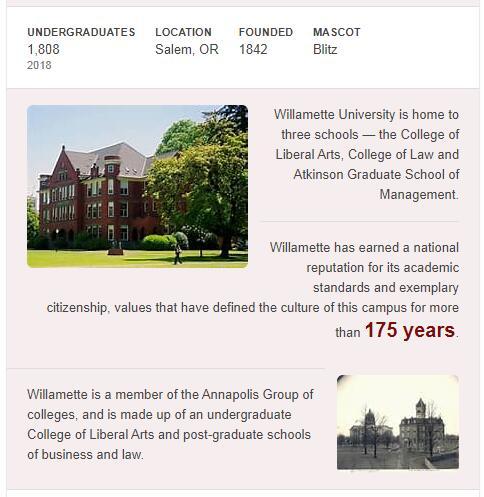 Willamette University History