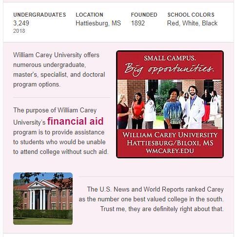 William Carey University History