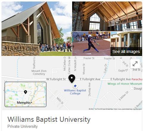 Williams Baptist College History