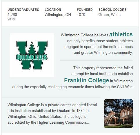 Wilmington College History