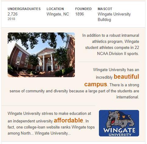 Wingate University History