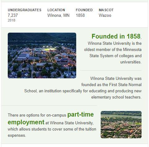 Winona State University History