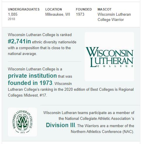 Wisconsin Lutheran College History