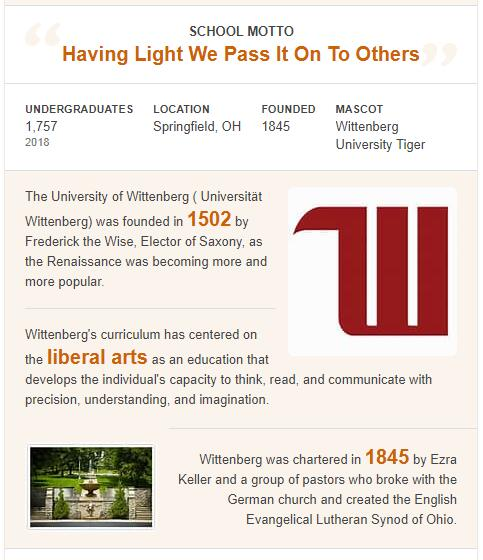 Wittenberg University History