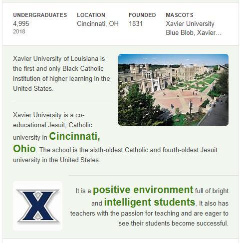 Xavier University History