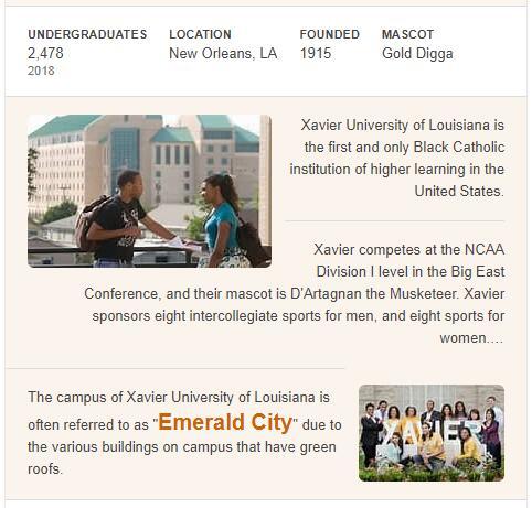 Xavier University of Louisiana History
