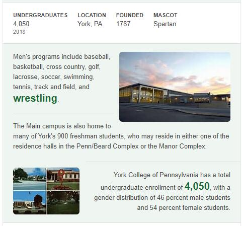 York College of Pennsylvania History