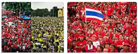 red shirts and yellow shirts in thailand